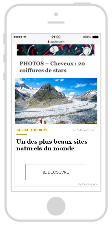 Swiss Tourism native ads